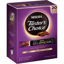 Taster's Choice 100% Colombian Instant Coffee Single Serve Packets