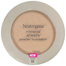 Neutrogena Mineral Sheers Natural Beige 60 Powder Foundation .34 oz