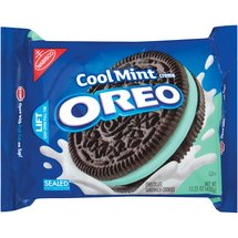 Nabisco Oreo Chocolate Cool Mint Creme Sandwich Cookies