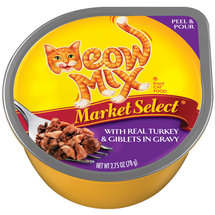 Meow Mix Market Select With Real Turkey & Giblets In Gravy Cat Food