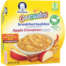 Gerber Graduates Breakfast Buddies Apple Cinnamon Hot Cereal with Real Fruit