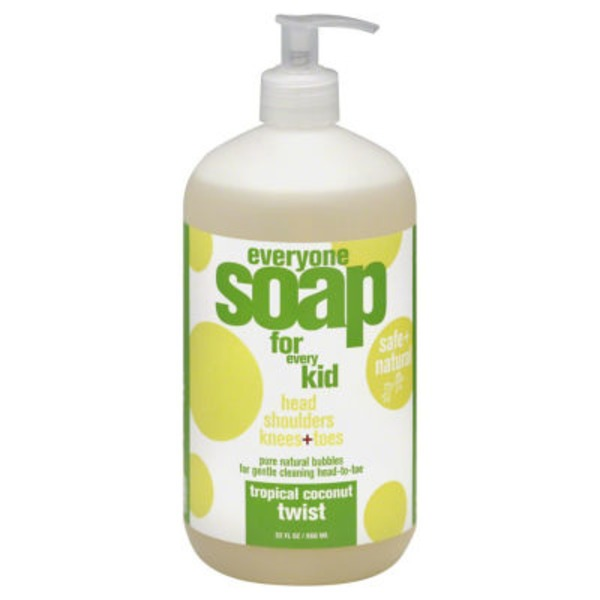 Everyone Safe & Natural Tropical Coconut Twist Liquid Soap For Kids