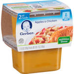 Gerber 2nd Foods Nature Select Apples & Chicken Dinner