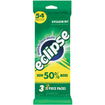 Eclipse Spearmint Sugarfree Gum (Pack of 3)