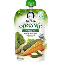 Gerber 2nd Foods Organic Veggies Carrot Zucchini & Broccoli Baby Food