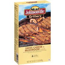 Johnsonville Grillers Swiss Cheese & Mushroom Flavor Patties