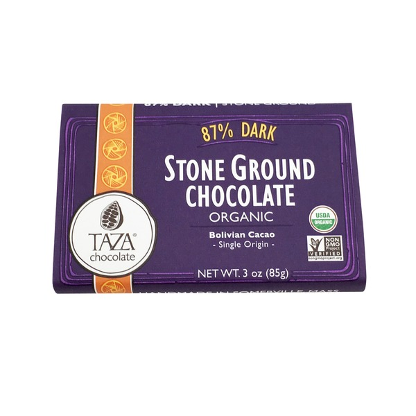 Taza Chocolate 87% Dark Stone Ground Organic Chocolate