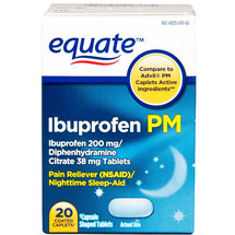 Equate Ibuprofen PM Caplets Pain Reliever/Sleep Aid