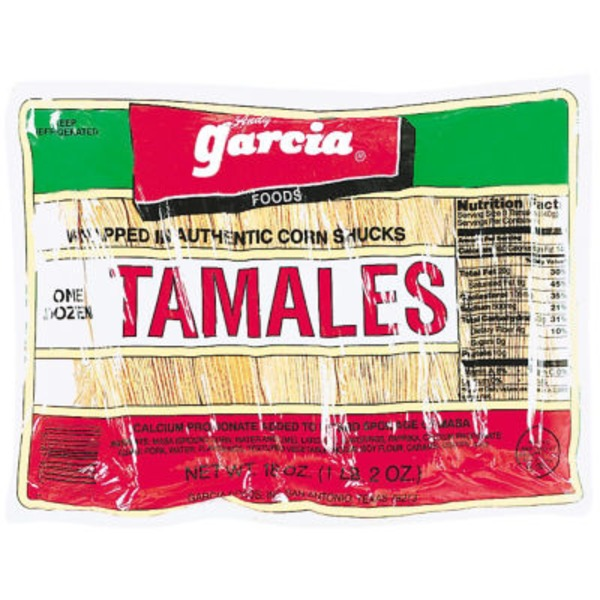 Andy Garcia Tamales Wrapped In Authentic Corn Shucks