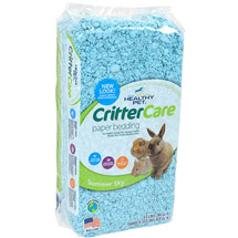 Critter Care Colors Small Pet Bedding - Blue