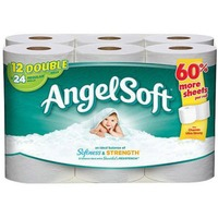 Angel Soft Bathroom Tissue Softness & Strength, Double Rolls