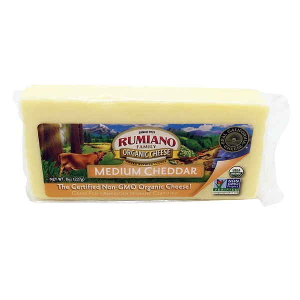 Rumiano Family Organic Medium Cheddar Cheese