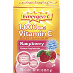 Emergen-C Raspberry Flavored 1000 mg Vitamin C Supplement Fizzy Drink Mix