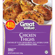 Great Value Frozen Chicken Thighs