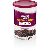 Great Value California Raisins