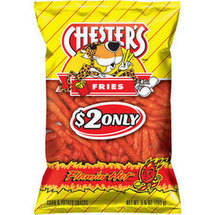 Chester's Fries Flamin' Hot Flavored Corn & Potato Snacks