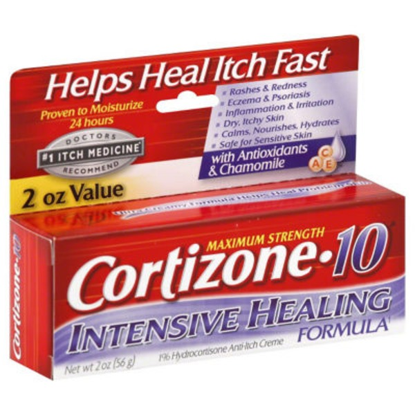 Cortizone-10 Intensive Healing Formula 1% Hydrocortisone Anti-Itch Creme Maximum Strength