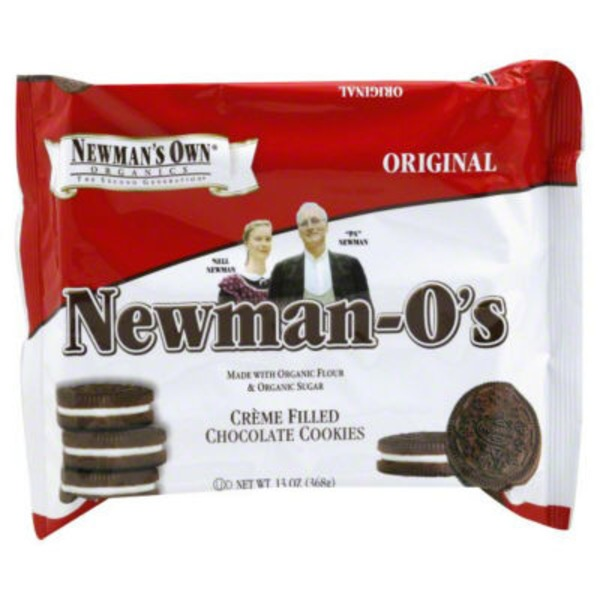 Newman's Own Organics. Newman-O's Creme Filled Chocolate Cookies