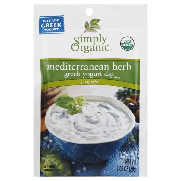 Simply Organic Dip Mix, Greek Yogurt, Mediterranean Herb