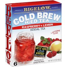 Bigelow Cold Brew Iced Tea Raspberry & Lemon Herbal Tea