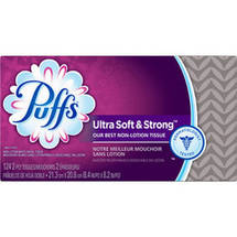 Puffs Ultra Soft & Strong Facial Tissues Family Box