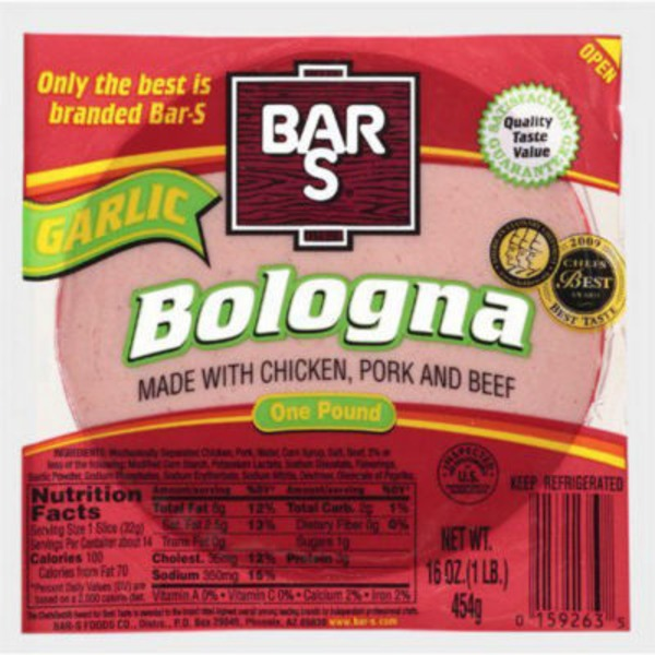 Bar S Garlic Bologna