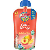 Earth's Best Second Foods Peach Mango Baby Food Puree