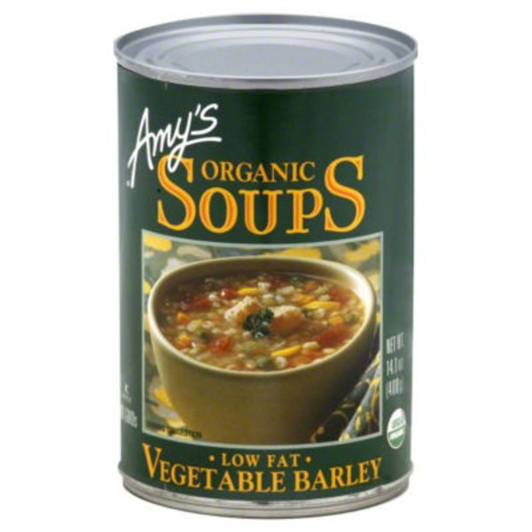 Amy's Organic Soups Vegetable Barley Low Fat