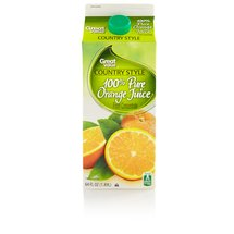 Great Value Country Style 100% Orange Juice From Concentrate 64 Fl Oz