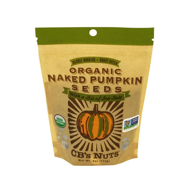 CB's Nuts Pumpkin Seeds, Naked, Organic, Pouch