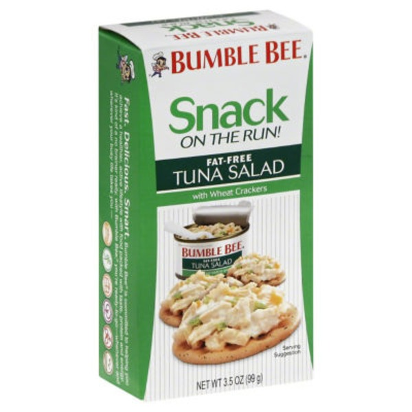Bumble Bee Snack On The Run! Fat Free with Wheat Crackers Tuna Salad