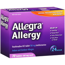Allegra Non-Drowsy Indoor & Outdoor Allergy Tablets