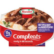 Hormel Beef Steak Tips W/Mashed Potatoes & Gravy Compleats Microwave Bowls
