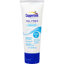Coppertone Oil Free Faces Sunscreen Lotion SPF 50