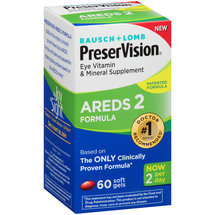 Bausch & Lomb PreserVision AREDS 2 Formula Eye Vitamin Soft Gels