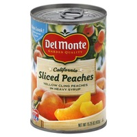 Del Monte Sliced Yellow Cling in Heavy Syrup Peaches