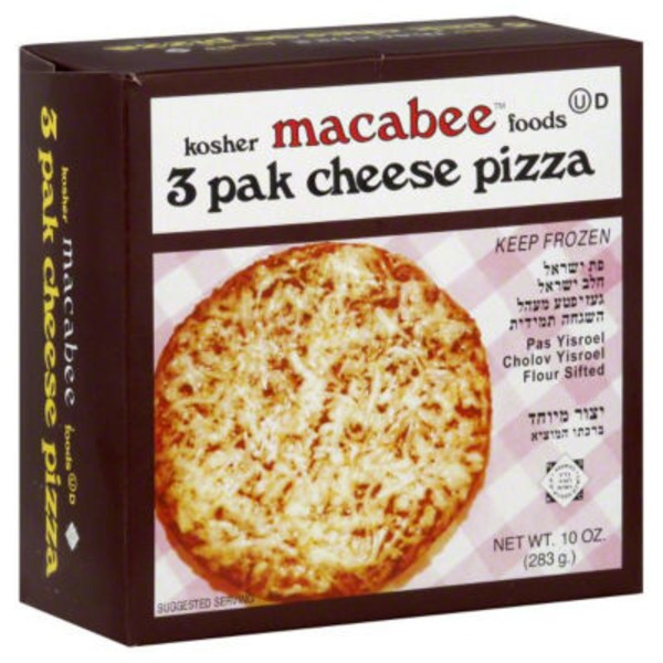 Macabee Cheese Pizza - 3 CT