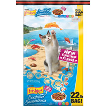 Purina Friskies Seafood Sensations Dry Cat Food Bag