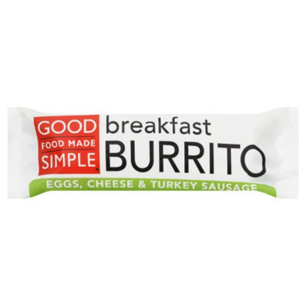 Good Food Made Simple Egg, Cheese & Turkey Sausage Breakfast Burrito