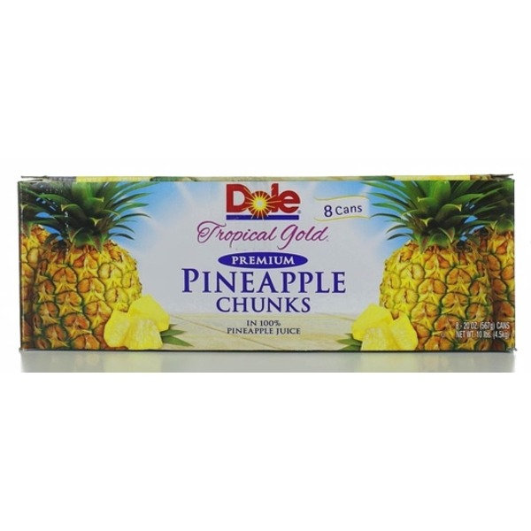 Dole Canned Fruit Tropical Gold 20 Oz Pineapple Chunks