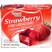Great Value Strawberry Gelatin Dessert
