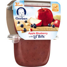 Gerber 3rd Foods Apple Blueberry Fruit Puree with Lil' Bits