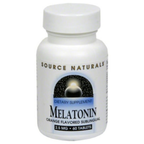 Source Naturals Melatonin 2.5 Mg Orange Flavored Sublingual Tablets