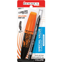 Rimmel Volumeflash Scandaleyes Curve Alert Mascara/Waterproof Kohl Kajal Eye Liner