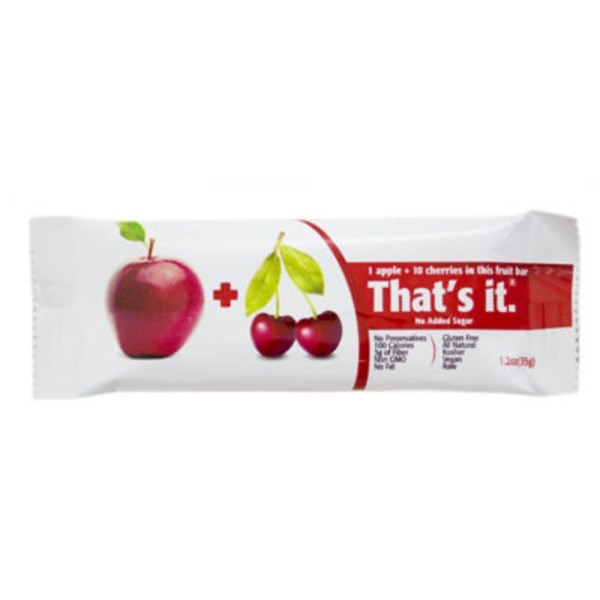 Thats It Apple & Cherry Fruit Bar