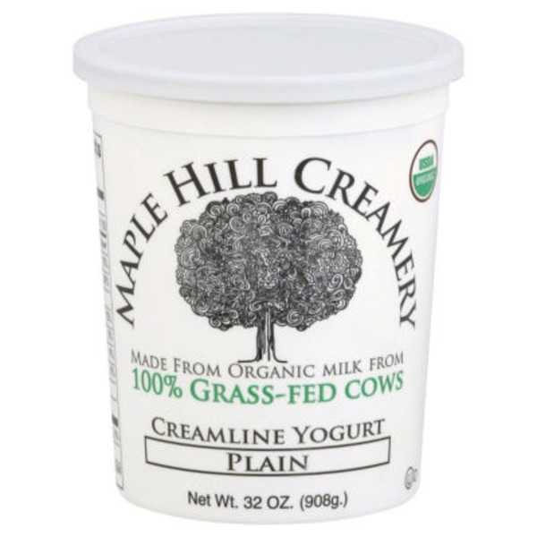 Maple Hill Creamery 100% Grass-Fed Cows Whole Milk Yogurt Plain