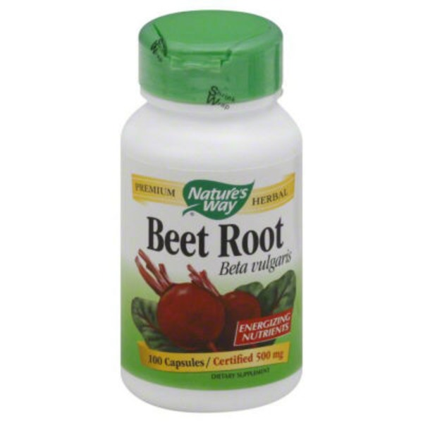 Nature's Way Beet Root 500 mg Capsules