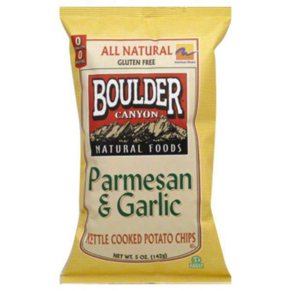 Boulder Canyon Authentic Foods Parmesan & Garlic Kettle Cooked Potato Chips