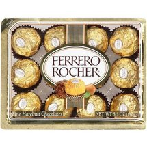 Ferrero Rocher Chocolates Fine Hazelnut