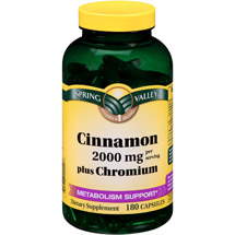 Spring Valley Cinnamon Plus Chromium Capsules